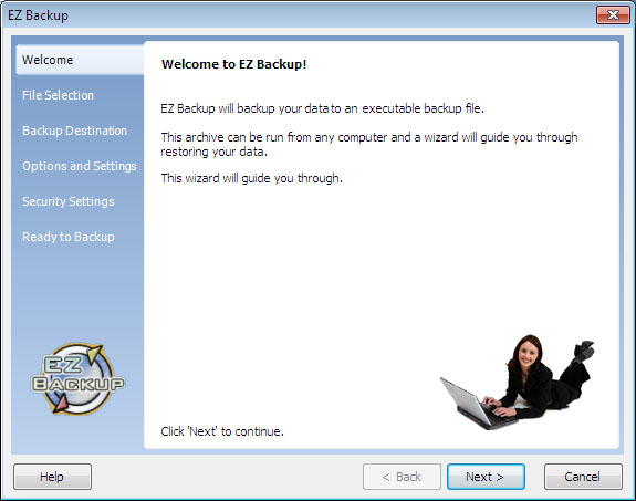 Click to view EZ Backup IE and Windows Mail Basic 6.32 screenshot