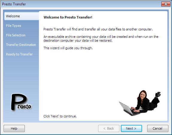 Presto Transfer WordPerfect full screenshot